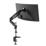 New              BlitzWolf® BW-MS2 Monitor Stand with Pneumatic Arm 32″ Monitor  360°Rotation, -85°~+90°Tilt, 180°Swivel, Adjustable Height and Cable Management