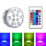 New              ZANLURE 1/2/4PCS Swimming Pool Light RGB 16-Colors LED Bulb Remote Control Color Decor Lamp For Paper Lanterns Vase