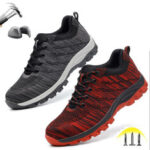 New              Men's Hiking Steel Toe Work Safety Shoes Mesh Lace Up Anti-slip Anti-Collision Safe Shoes