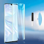 New              Bakeey HD Clear UV Liquid Full Glue Cover Curved Anti-Explosion Soft Tempered Glass Screen Protector for Xiaomi Mi Note 10 Lite
