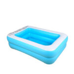 New              Rectangular Inflatable Swimming Pool Thicken PVC Paddling Pool Bathing Tub Outdoor Summer Swimming Pool For Kids