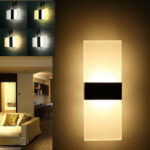 New              Modern Acrylic 5W LED Wall Sconces Aluminum Light Surface Mounted Pathway Fixtures Night Lamp AC85-265V