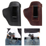 New              Universal Leather Concealed Tactical Waist Belt Holster Universal Shooting Sleeves For Women Men Hunting Accessories