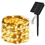 New              5M/10M/20M Solar Powered LED String Lights 8 Modes Waterproof Outdoor Garden Home Decoration