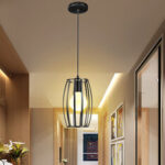 New              Retro Olive Style Industrial Metal Chandelier Wire Cage Ceiling Pendant Light Shade for Dining Room Loft