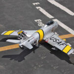 New              F86 Sabre 1100mm Wingspan 70mm EDF Jet Warbird RC Airplane Kit with Electric Landing Gear