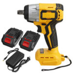 New              19800mAh 288VF 630N.m 1/2″ Brushless Cordless Electric Impact Wrench W/ 2 Batteries