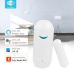 New              Tuya Smart WiFi Door Sensor Window Sensor Door Open/Closed Detectors Wifi Home Alarm Compatible With Alexa Google Home Tuya APP