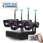 New              GUUDGO 4CH 2.0MP 1080P Wireless Monitoring Kit outdoor/Indoor Weatherproof  P2P CCTV Surveillance Camera Kits
