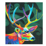 New              Multicolor Deer Oil Painting Set By Number Kit DIY Pigment Painting Art Hand Craft Tool