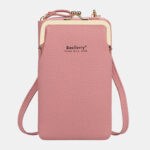 New              Women Lychee Pattern 6 Card Slots 6.5 Inch Phone Bag Crossbody Bag