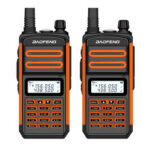New              2PCS BAOFENG BF-S5plus 18W Waterproof UV Dual Band Handheld Radio Walkie Talkie Flashlight Hiking Interphone EU Plug
