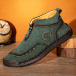 New              Men Corduroy Hand Stitching Ankle Boots