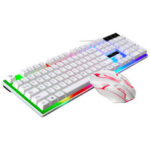 New              G21B 104 Key USB Wired Gaming Keyboard Mouse Set Rainbow LED Rainbow Color BacklightFor PC Laptop Slim Xbox Computer Desktop Notebook