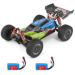 New              1PC Wltoys 144001 1/14 2.4G 4WD High Speed Racing RC Car Vehicle Models 60km/h Two Battery Green