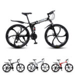 New              MYNUO 26 Inch 21-Speed Folding Mountain Bike Double Disc Brakes Double Shock Absorber Off-road Bike Outdoor Sport Bicycle
