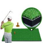 New              30×60/90cm Grass Golf Training Practice Mat Golf Oxford TEE Driving Hitting Range Mat Golf Turf Pitching Mat with Rubber Tee Holder Indoor Outdoor
