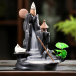 New              Backflow Waterfall Incense Burner Censer Holder Home Decor Yoga Relax Gift