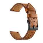 New              22mm Universal Replacement Vintage Genuine Leather Watch Band Strap for Haylou Solar LS05 Watch