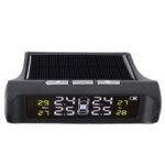 New              TPMS Tire Pressure Monitoring System Sensors Real-time Display Solar USB Powered