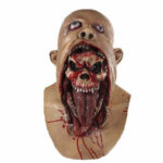 New              Bloody Zombie Mask Melting Face Adult Latex Costume Halloween Scary Party Head