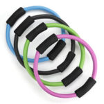 New              37CM Dia. Yoga Pilates Workout Stretch Trainer Ring Bodybuilding Magic Circle Indoor Fitness Exercise Equipment