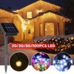 New              20/30/50/100LED Solar String Light Ball Waterproof Fairy Lamp Garden Outdoor Party Christmas Decoration