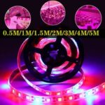 New              0.5M/1M/1.5M/2M/3M/4M/5M USB Waterproof 5050 LED Grow Strip Light Hydroponic Full Spectrum Indoor Plant Lamp
