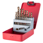 New              Drillpro M35 Cobalt Drill Bit Set HSS-Co Jobber Length Twist Drill Bits with Metal Case for Stainless Steel Wood Metal Drilling
