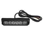 New              12V-24V 6 LED Aluminum Amber Waterproof IP67 Flash Light Side Strobe Warning Lamp For Car Truck Motorcycle