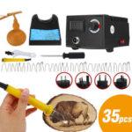 New              220V Pro Wood Burner Pyrography Pen Burning Machine Gourd Wood Crafts Tool Kit