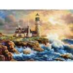 New              DIY Diamond Painting Scenic Lighthouse Round Diamond Embroidery Home Wall Living Decorations Gifts for Kids Adult