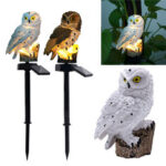 New              Waterproof Solar Power Owl LED Lawn Light Garden Yard Landscape Ornament Lamp Home Outdoor Decoration