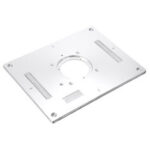 New              Drillpro 300x235x95mm Aluminum Router Table Insert Plate Woodworking Trimming Machine Flip Panel for Makita 3612
