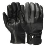 New              Men Leather Full Finger Gloves Winter Warm Motorcycle Driving Black Waterproof