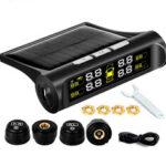 New              Wireless Solar TPMS LCD Car Tire Pressure Monitoring System + 4 External Sensor