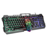 New              LIMEIDI T21 Wired Mechanical Keyboard & Mouse Set 104 Keys RGB Backlight Gaming Keyboard with Phone Holder 1600dpi Mouse