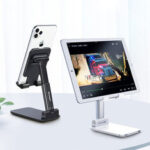 New              Essager Folding Telescopic Desktop Mobile Phone Tablet Holder Stand for iPad Air for iPhone 12 XS 11 Pro POCO X3 NFC Xiaomi Mi10