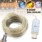 New              20M 200LED String Lights USB Waterproof Copper Wire Fairy Lamp Wedding Outdoor Garden Home