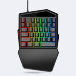New              Portable Mini One Handed Gaming Keyboard RGB Backlit 35 Keys Gaming Keypad for PC Mobile Phone 35 Keys Mechanical keyboard