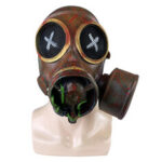 New              Halloween Party Full Latex Mask Steampunk Retro Gas Mask Cosplay Costumes