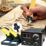 New              110V 220V Burning Machine Wood Burner Pyrography Pen Gourd Wood Crafts Tool Kit
