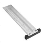New              Drillpro Inch and 200/300/400mm Stainless Steel Precision Marking T Ruler Hole Positioning Measuring Ruler Woodworking Scriber Scribing Tool