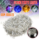 New              100M Waterproof 1000LED String Fairy Light Outdoor Decorative Christmas Tree Garden Lamp US Plug AC220V