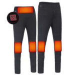 New              TENGOO 3-Gears Control Electric Heated Warm Pants Men Women USB Heating Base Layer Elastic Long Johns Insulated Heated Trousers for Camping Hiking