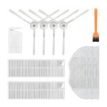 New              11pcs Replacements for Xiaomi Mijia G1 Vacuum Cleaner Parts Accessories Side Brushes*4 HEPA Filters*2  Mop Clothes*3 Cleaning Tool*1 Yellow Cleaning Tool*1